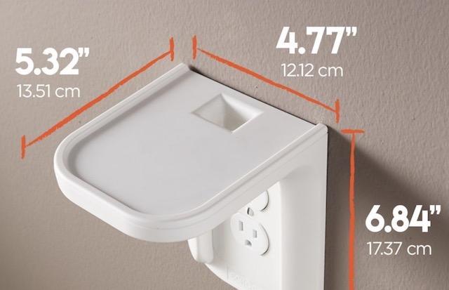 10. ECHOGEAR Outlet Shelf for Amazon Echo Spot