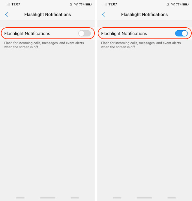 14. Flashlight Notifications 2
