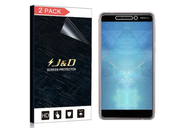 5. J&D 2-Pack Nokia 6.1 Screen Protector