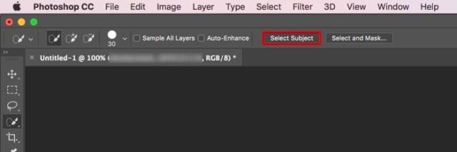 Adobe Photoshop CC 2018 Select Subject
