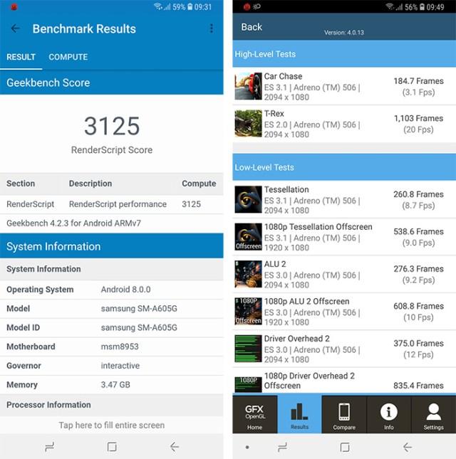 Samsung Galaxy A6 Plus benchmarks