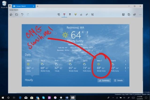 Windows 10 Screen Sketch