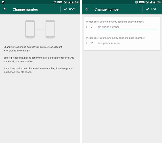 10. Change Your WhatsApp Number 2