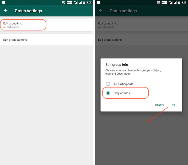 12. Restrict Group Members From Changing Group Title, Photo, and More 2