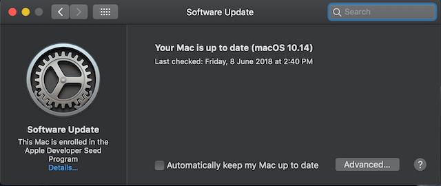 Cómo buscar actualizaciones de software en macOS Mojave 3