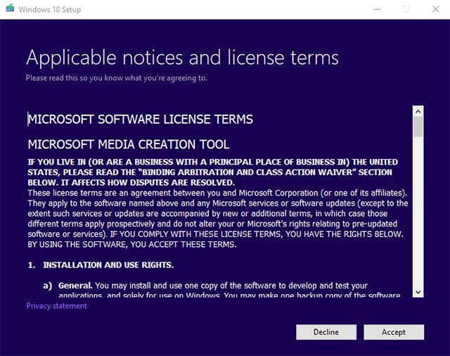 Medios de instalación 1 de Windows 10