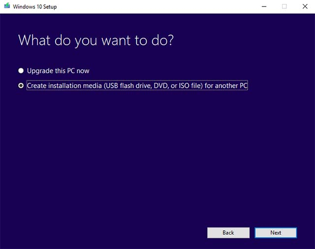 Medios de instalación 2 de Windows 10