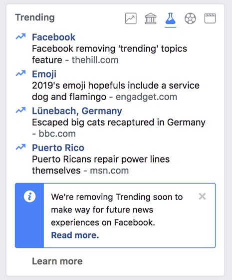 "Facebook to Kill ""Trending"", Replace it With ""Breaking News"""