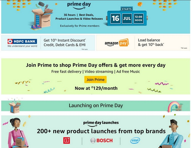 Amazon Prime Day to Start July 16 With Mega Deals, New Launches and More