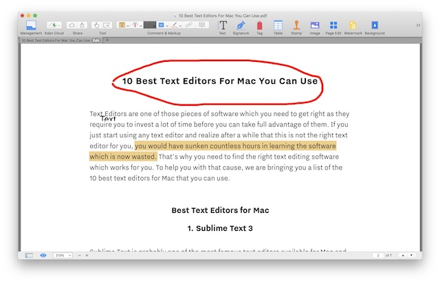 pdf reader that allows editing