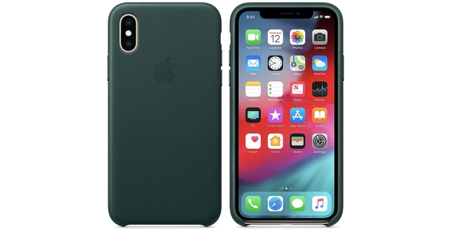 2. iPhone XS Leather Case from Apple