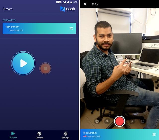 Castr mobile apps
