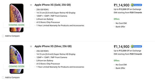 iPhone XS and XS Max Start Shipping In India: Where To Buy
