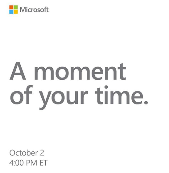 Microsoft Will Hold an Event on Oct 2, Refreshed Surface Laptops Expected