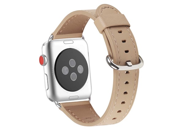 5. Top Grain Leather Band for Apple Watch Series 4