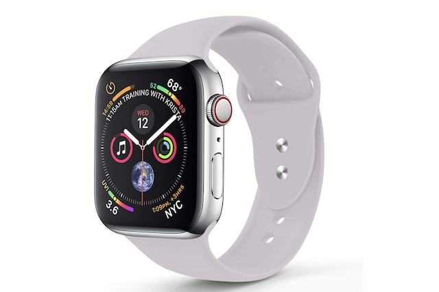 6. RUOQINI Silicone Band for Apple Watch Series 4