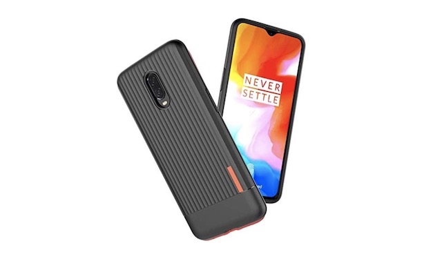 8. OnePlus 6T Carbon Textured Armor Cover Case