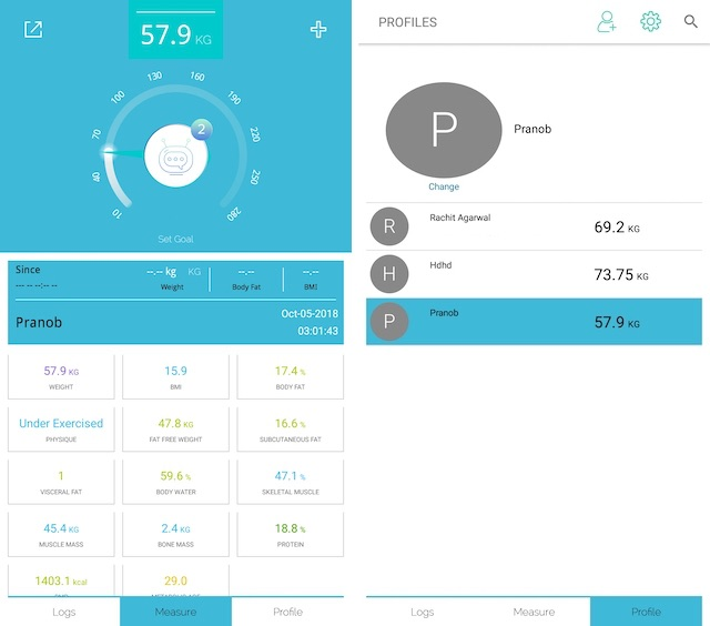 Data monitoring using ActoFit SmartScale