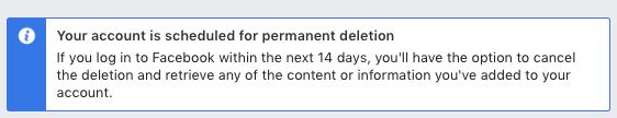 facebook permanent deletion