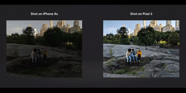 Google's example photo for Night Sight on Pixel 3 Camera