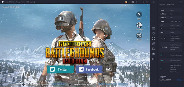 PUBG Mobile PC controls
