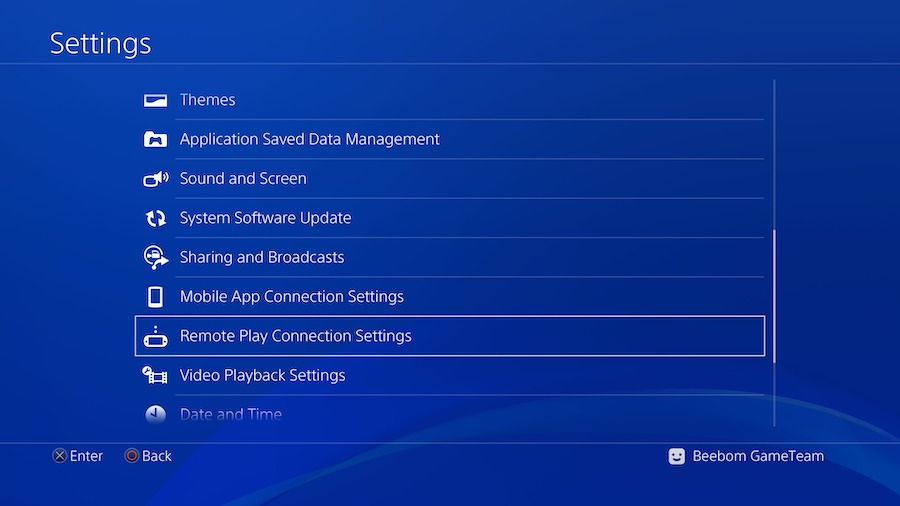 Configuración de PS4 para PS4 Remote Play00002