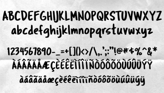 Лучшие рукописные шрифты Трагический маркер
