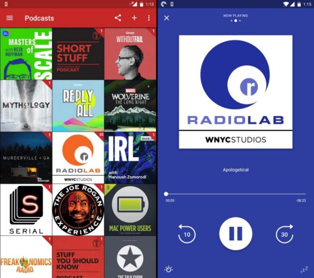 карман бросает лучшее приложение подкаста Android