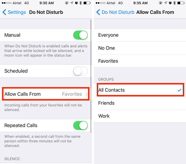 5. Услуга блокировки вызовов iPhone