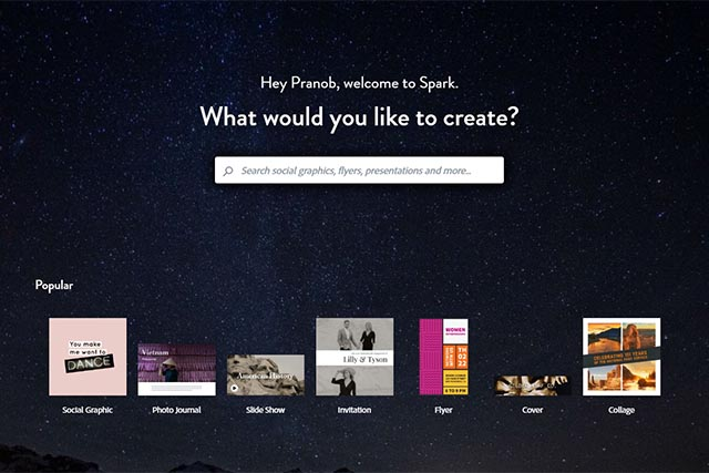 Adobe Spark - Canva Alternatives