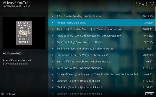 Kodi add-on add-ons addon addons audiobooks