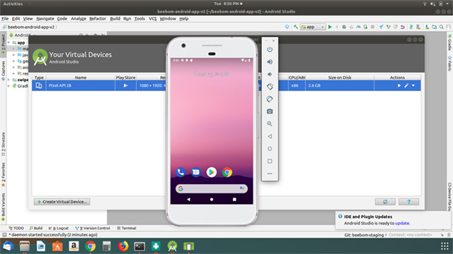 android studio linux