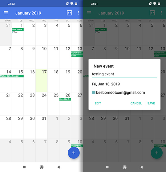 Open Source Apps For Android etar calendar