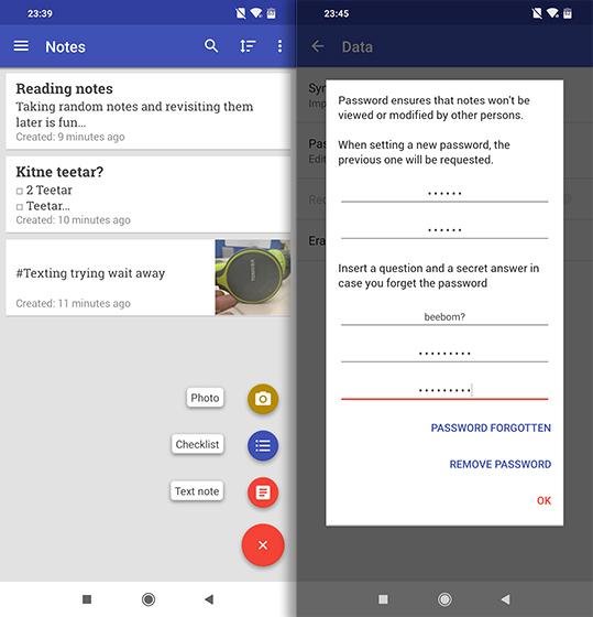 Приложения с открытым исходным кодом для Android omni notes