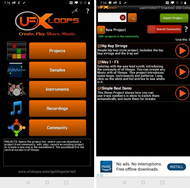 Музыкальная студия uFXloops 1