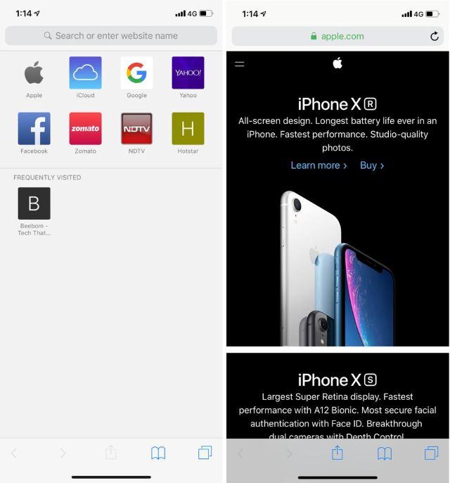 Safari Browser iOS