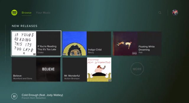 музыка для playstation - интеграция в Spotify