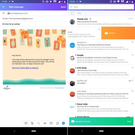 Yahoo Mail приложение для Android