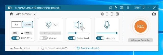 FonePaw Screen Recorder 1