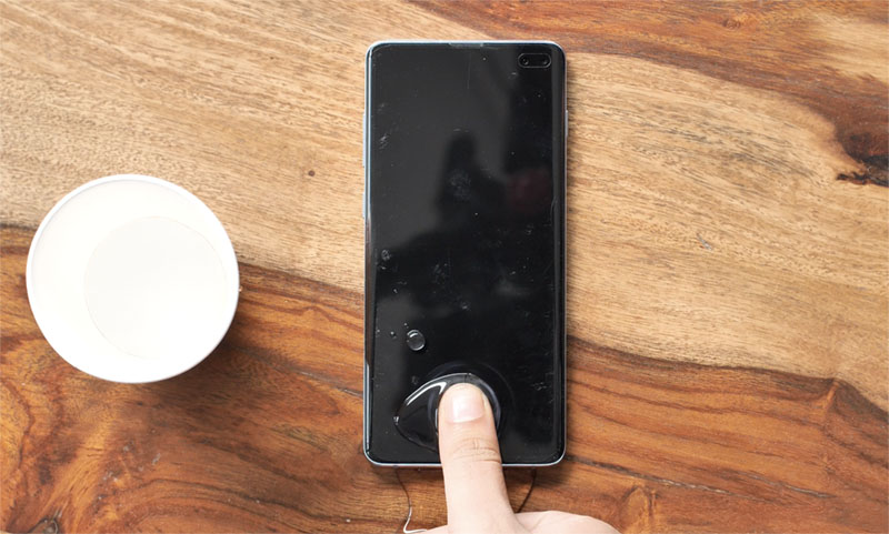 Galaxy S10 Plus отпечатков пальцев разблокировать мокрый