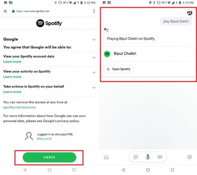 Интеграция Spotify с Google Assistant 3