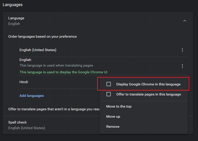 Cambiar idioma en Google Chrome (Windows, Linux y Chrome OS) 5