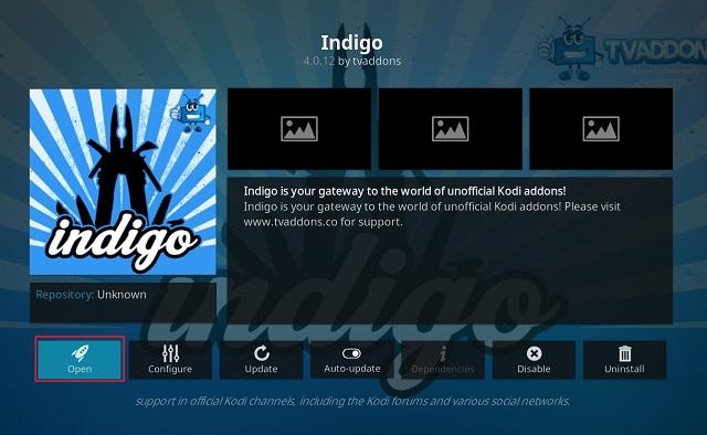 Очистить кэш на Kodi с помощью дополнения Indigo 8