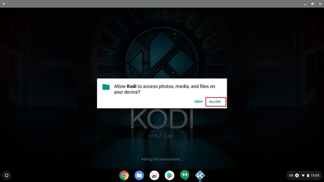 Install Kodi on Chromebook From the Google Play Store 2