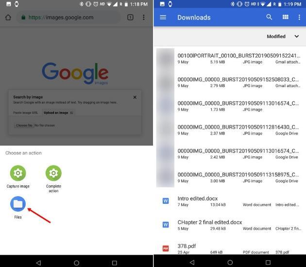 Обратный поиск изображений на телефоне с помощью Google Images Desktop Site (Android и iOS) 3