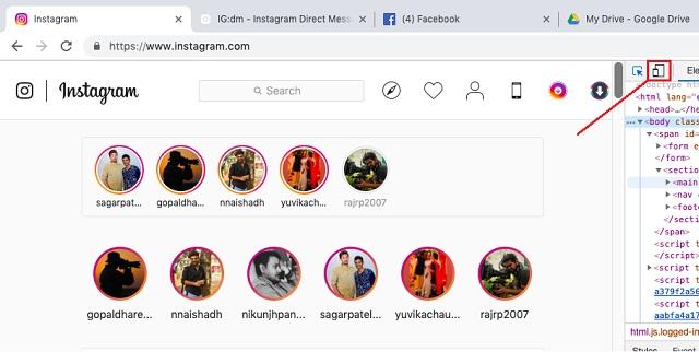 Используйте Instagram для Mac без ограничений в Chrome 2