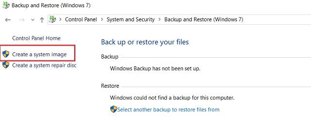 Cree una copia de seguridad completa de Windows 10 con Copia de seguridad y restauración 2