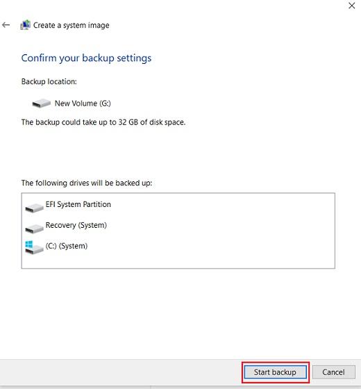 Cree una copia de seguridad completa de Windows 10 con Copia de seguridad y restauración 5
