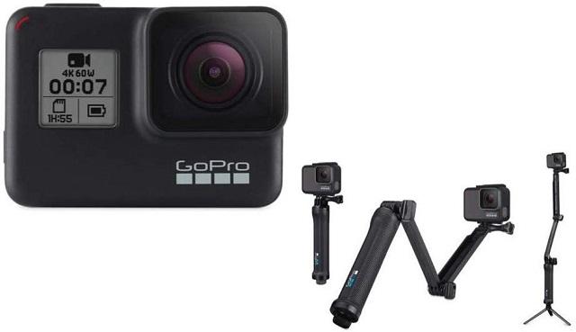 1. GoPro 3-Way Best GoPro Hero 8 Черные аксессуары