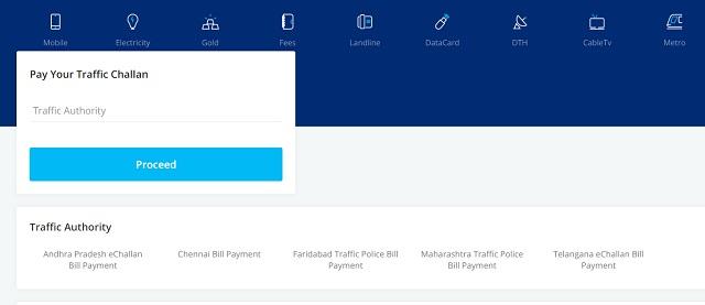 Pasos para verificar y pagar una multa de tráfico automatizada 4 Pague e-Challan en línea